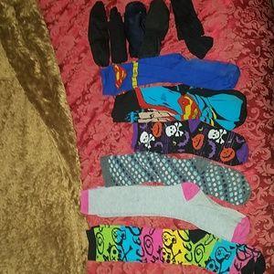 11 pair of socks Halloween Superman lot